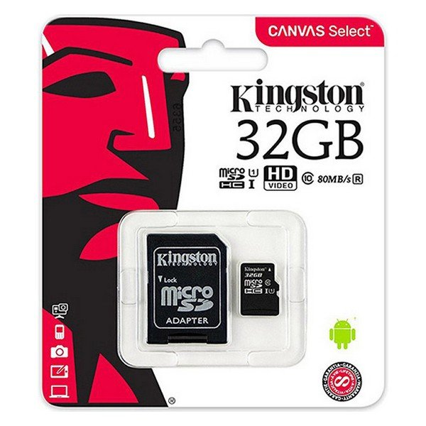 Image of   Micro Sd Kort - 32gb 100mb/s Class 10 - Kingston