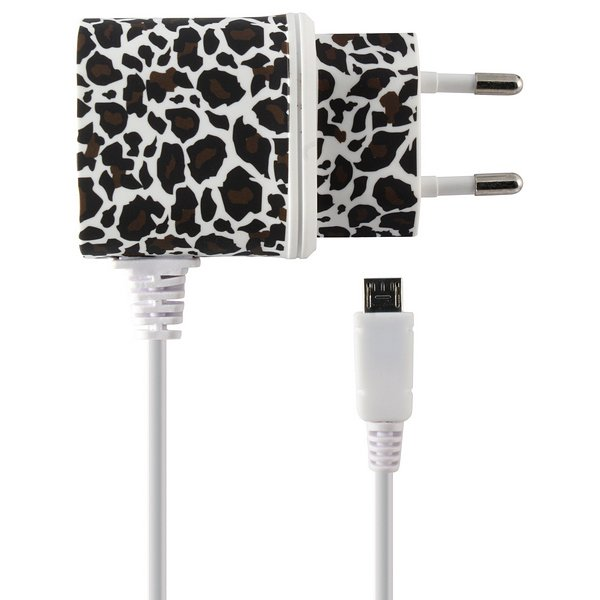 Image of   Micro Usb Oplader - 5v 1a - Leopard