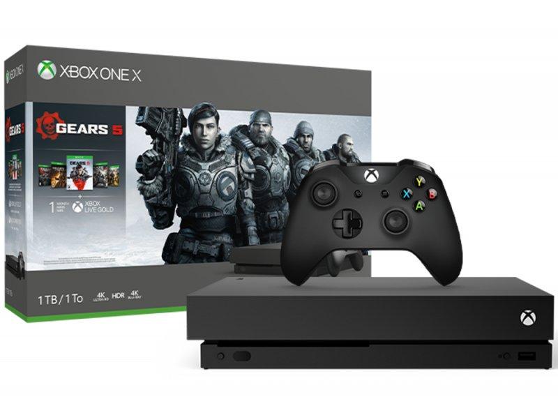 Image of   Microsoft Xbox One X Konsol - 1tb - Gears 5 Bundle - Sort