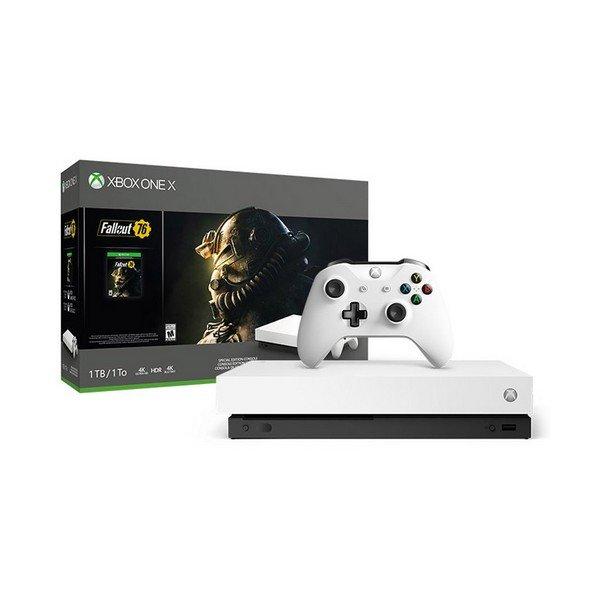 Image of   Microsoft Xbox One X Konsol - 1tb - Fallout 76 Bundle - 4k Hdr - Sort
