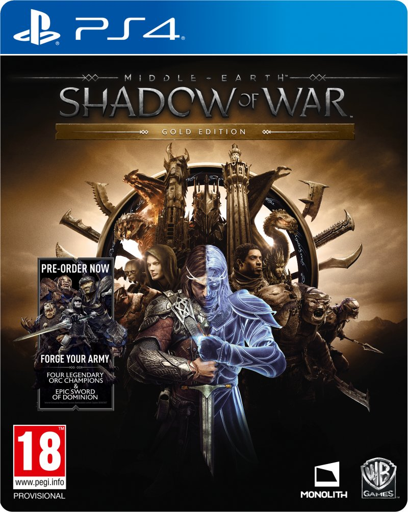 Image of   Middle-earth: Shadow Of War - Gold Edition - PS4