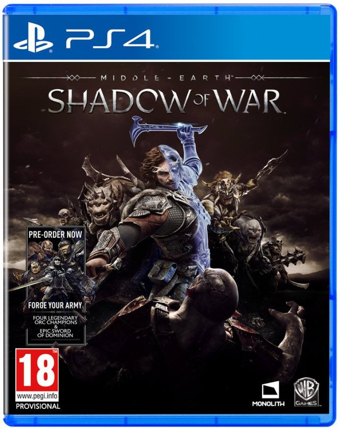 Image of   Middle-earth: Shadow Of War - PS4