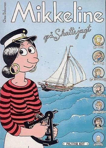 Image of   Mikkeline På Skattejagt - Claus Deleuran - Tegneserie