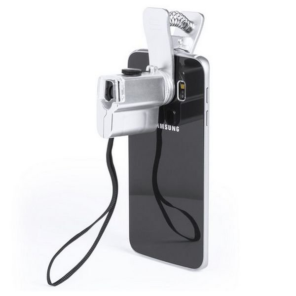 Image of   Mikroskop Med Led Lys Til Mobil - 60x - Grå