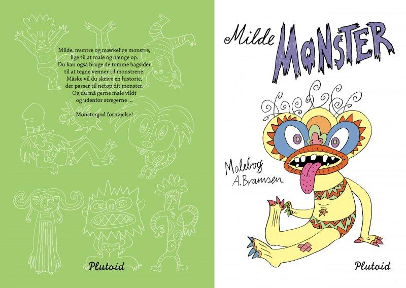 malebog,humor,monstre,underholdning,kreativ