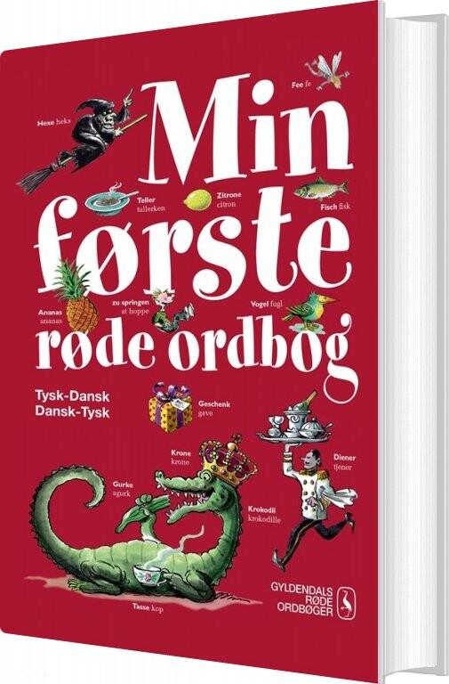 Image of   Min Første Røde Ordbog - Tysk - Gyldendal Ordbogs - Bog
