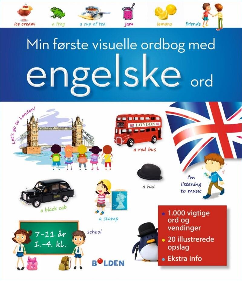 Image of   Min Første Visuelle Ordbog Med Engelske Ord - Diverse - Bog