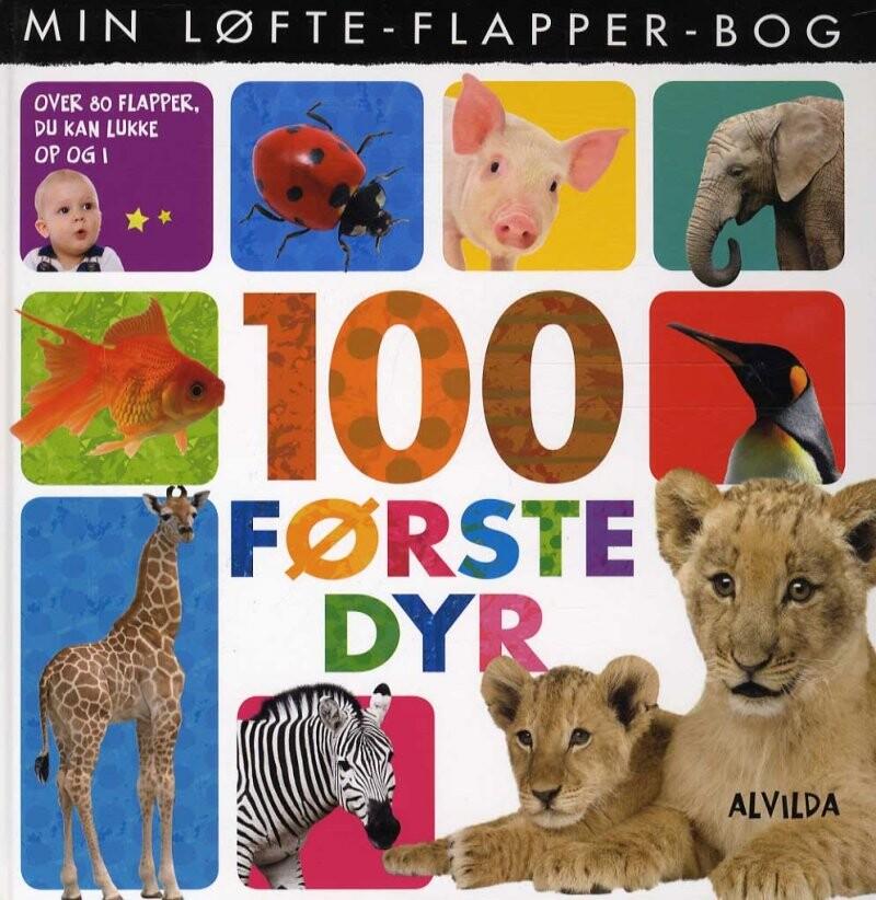 Image of   Min Løfte-flapper-bog - 100 Første Dyr - Diverse - Bog