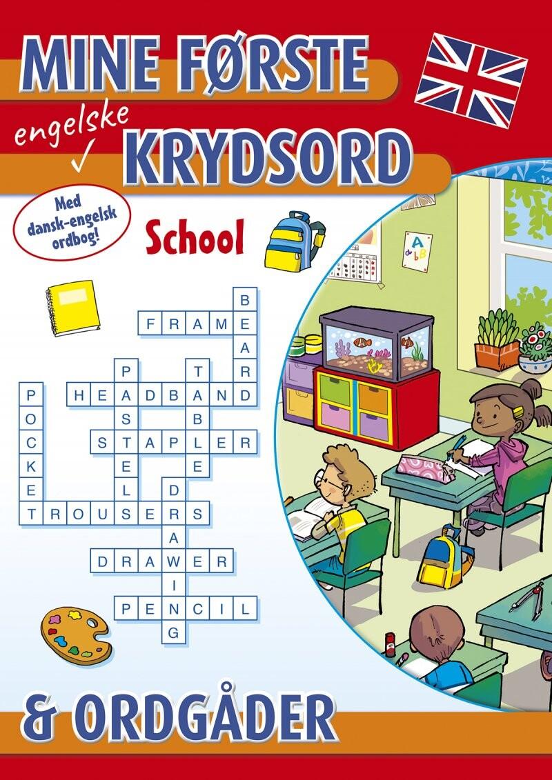 Mine Første Engelske Krydsord Og Ordgåder: School - Diverse - Bog