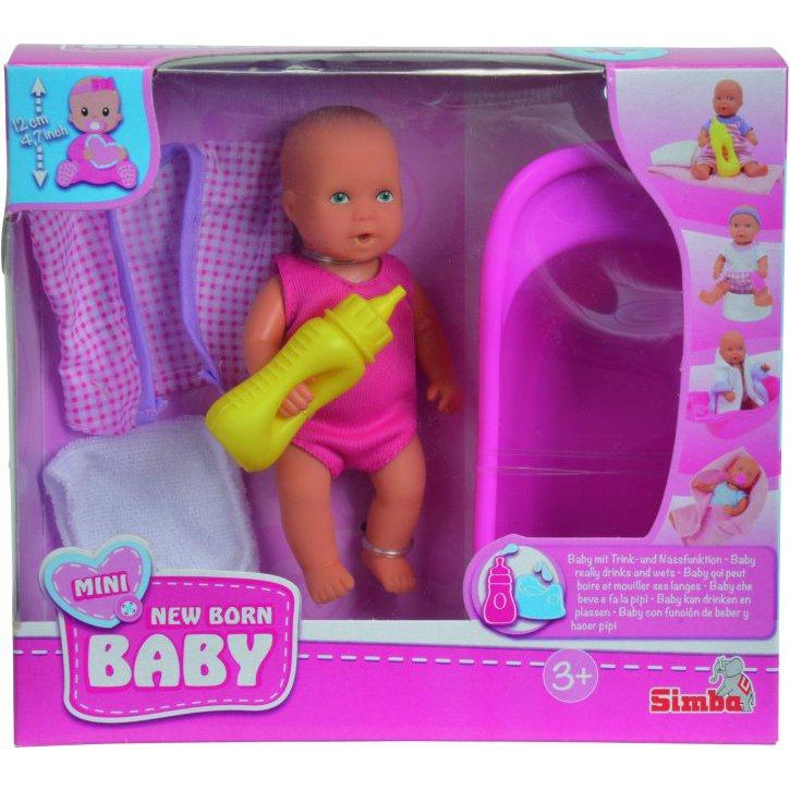 6e5b69727 Mini New Born Baby Dukke - Badesæt Med Badekar