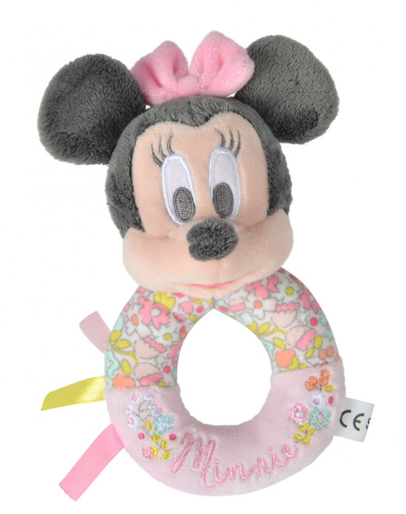 Minnie Mouse Rangle Med Blomster - Pink