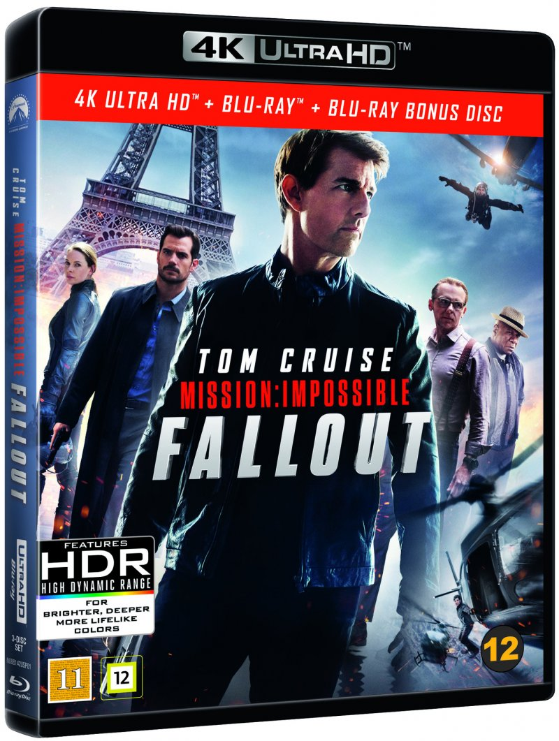 Image of   Mission Impossible 6 - Fallout - 4K Blu-Ray