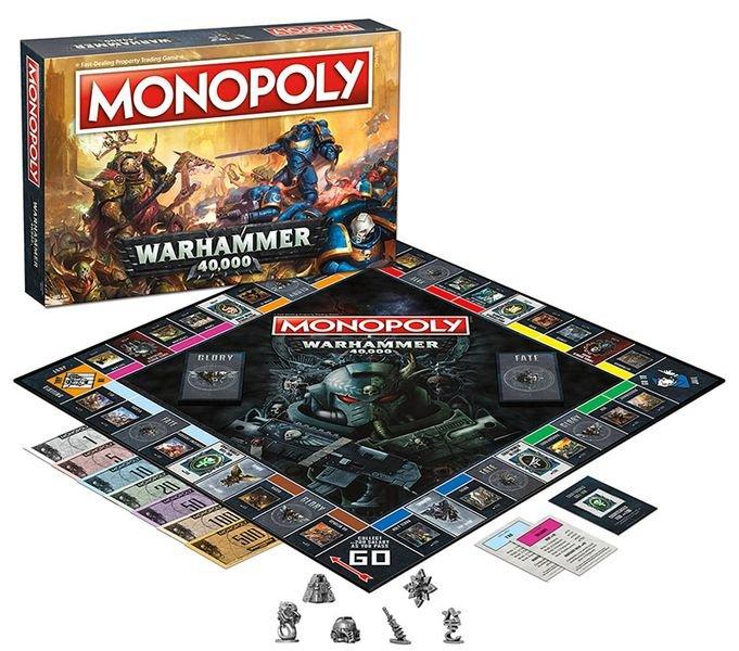 Monopoly - Warhammer 40k - Brætspil På Engelsk