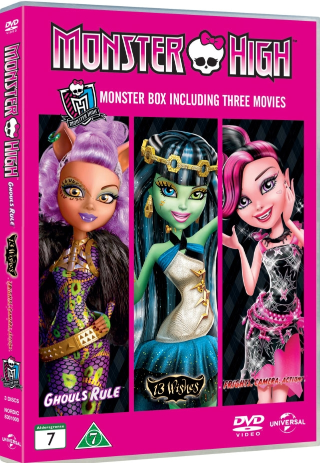 Image of   Monster High: Frights Camera Action // 13 Wishes // Ghouls Rule - DVD - Film