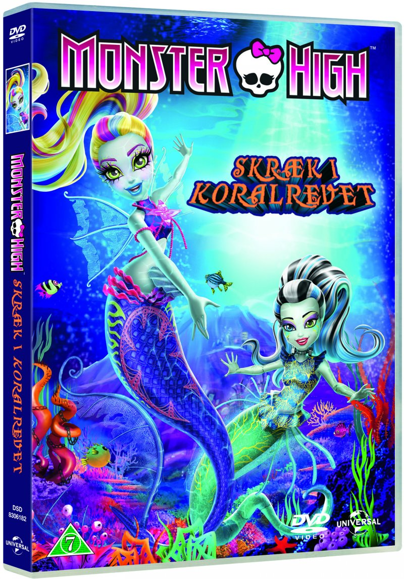 monster high skræk i koralrevet dukker