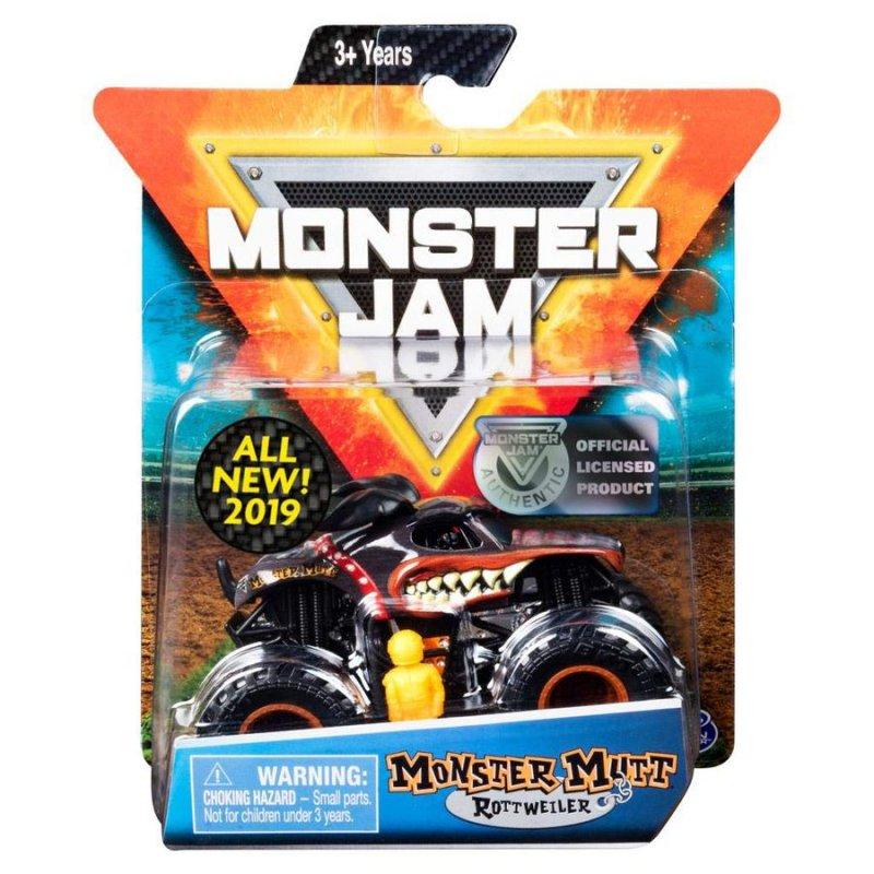 Image of   Monster Jam - Monster Truck Legetøj - 1:64 Single Pack - Monster Mutt Rottweiler