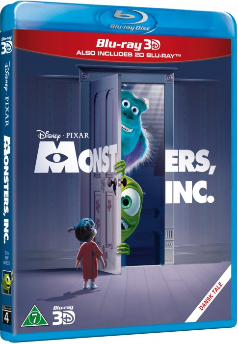 Image of   Monsters Inc - Disney Pixar - (3d+2d Blu-ray) -
