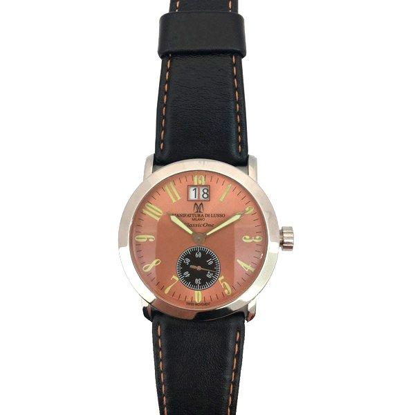 Montres De Luxe - Herreur - Kantet 39 Mm - Læder - Sort Guld