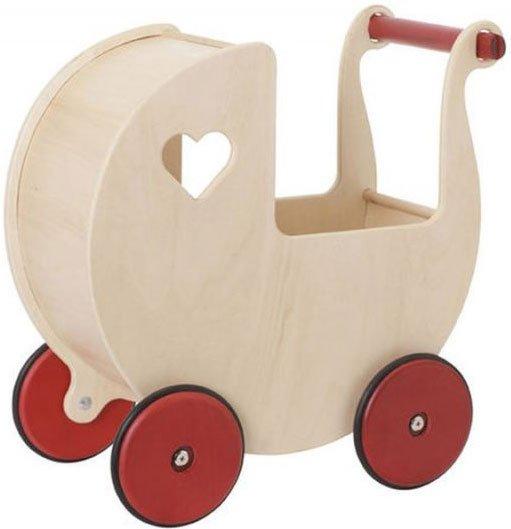 dukkevogn, gåvogn, gå vogn, dukkevogne, trælegetøj, træ legetøj, dukkevogn træ, træ dukkevogn, trædukkevogn, moover gåvogn, gåvogn baby