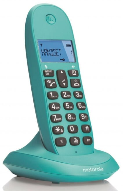 Image of   Motorola - Trådløs Fastnet Telefon - C1001 - Grøn