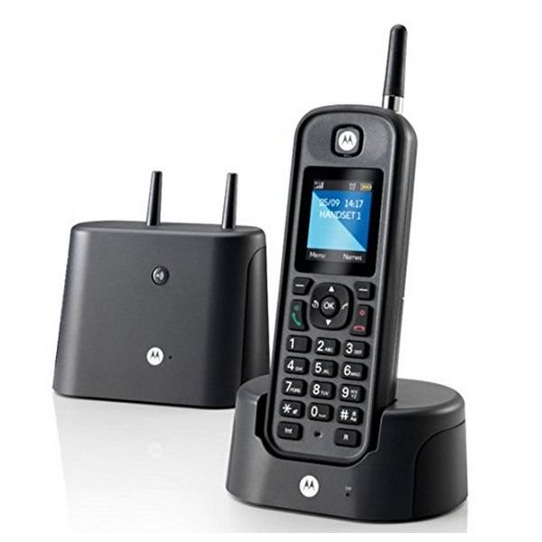 Image of   Motorola - Trådløs Fastnettelefon - O201 - Sort