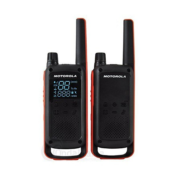 Image of   Motorola - Walkie-talkie Sæt - 2 Stk - 10 Km Rækkevidde - Sort Orange