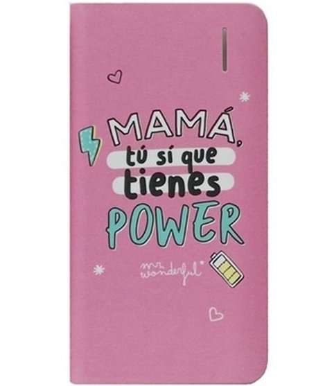 Image of   Mr. Wonderful - Powerbank Med 4000 Mah - Inkl. Usb Kabel - Pink