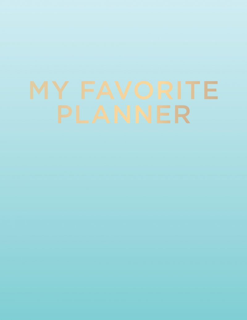 Image of   My Favorite Planner - 2018 / 2019 / 2020