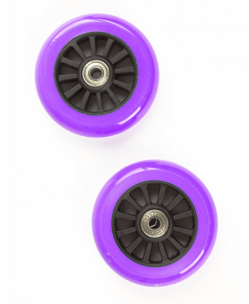 Billede af My Hood - 2 Hjul Til Trick Løbehjul - 100 Mm - Lilla Sort