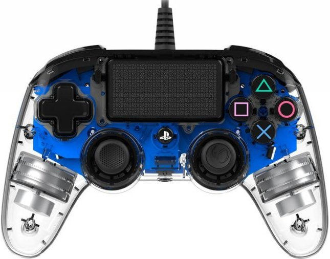 Image of   Nacon Compact Ps4 Controller Med Led Lys - Blå