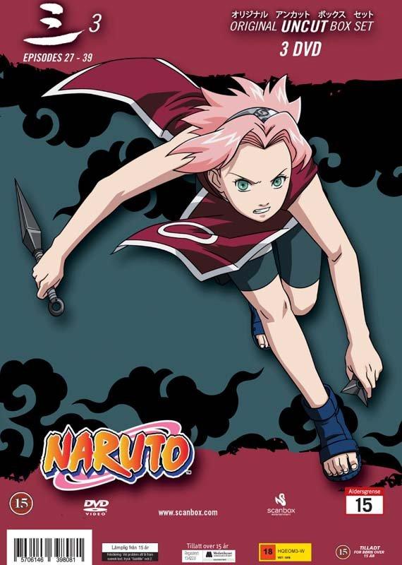 Billede af Naruto Box 3 - Japansk Udgave - Original Uncut - Episode 27-39 - DVD - Film