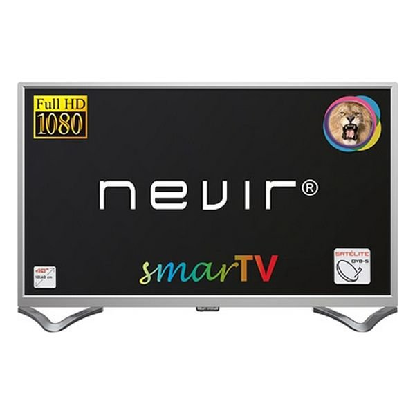 "Image of   Nevir 40"" Smart Tv - Fuld Hd Miracast Lan Usb Hdmi - Nvr-8050 - Sølv"