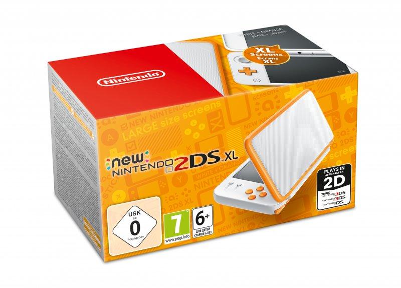 New Nintendo 2ds Xl -  Hvid Og Orange
