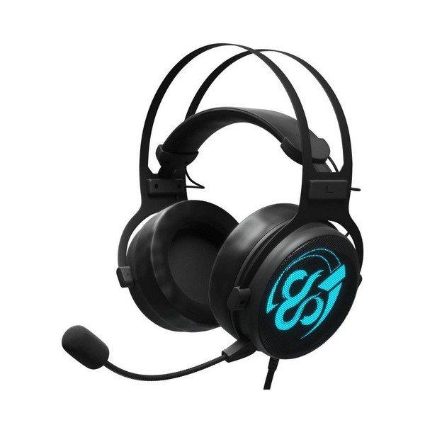 Image of   Newskill Kimera V2 - 7.1 Gaming Høretelefoner Med Mikrofon Og Led Lys - Sort