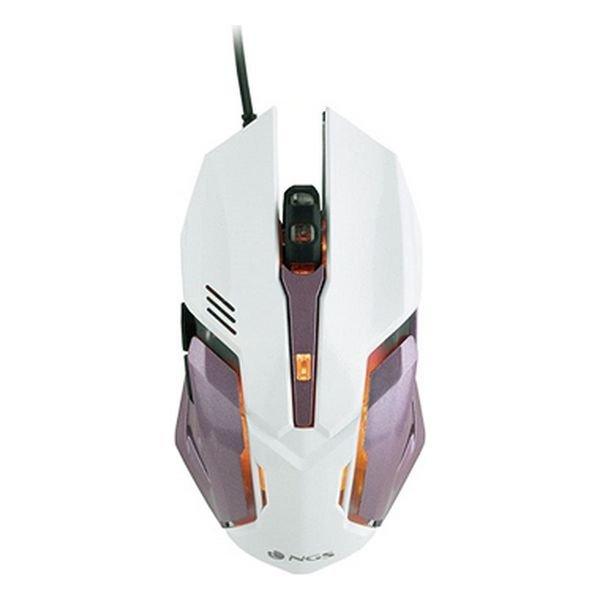 Image of   Ngs Gmx-100 - Gaming Mus Med Led Og 2.400 Dpi - Hvid Pink
