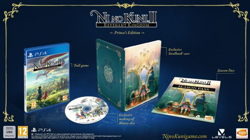 Image of   Ni No Kuni Ii (2): Revenant Kingdom (steelbook + Season Pass + Kingsmaker Bluray) - PS4