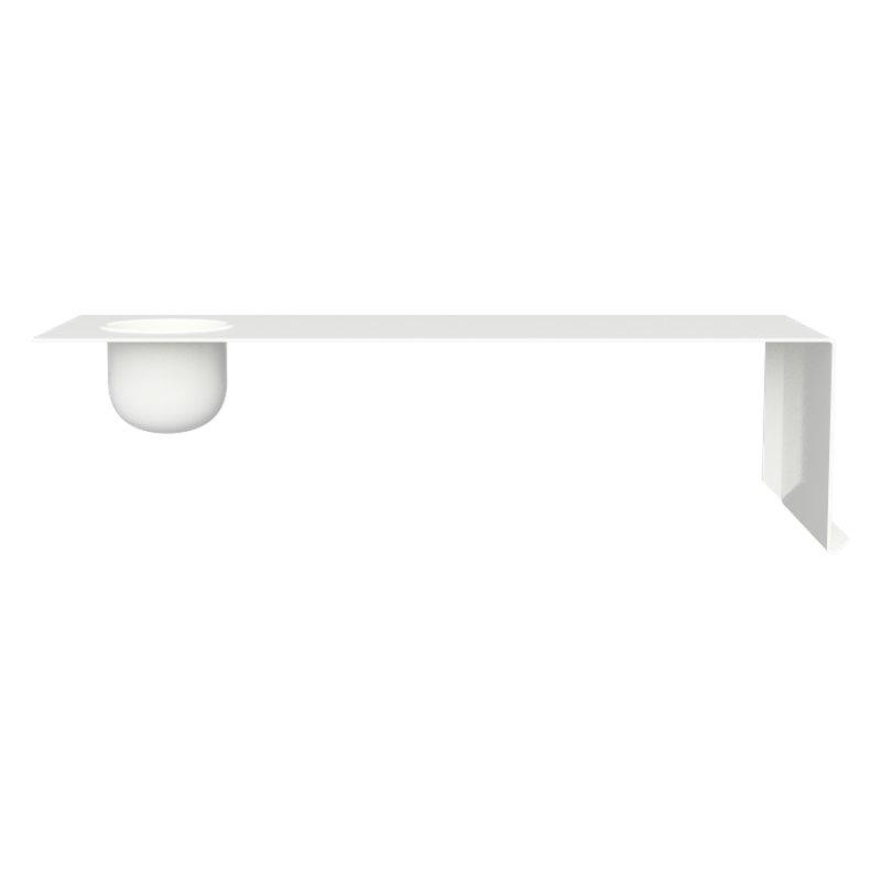 Image of   Nichba-design - Shelve01 Hylde Med Skål - Venstre - Hvid