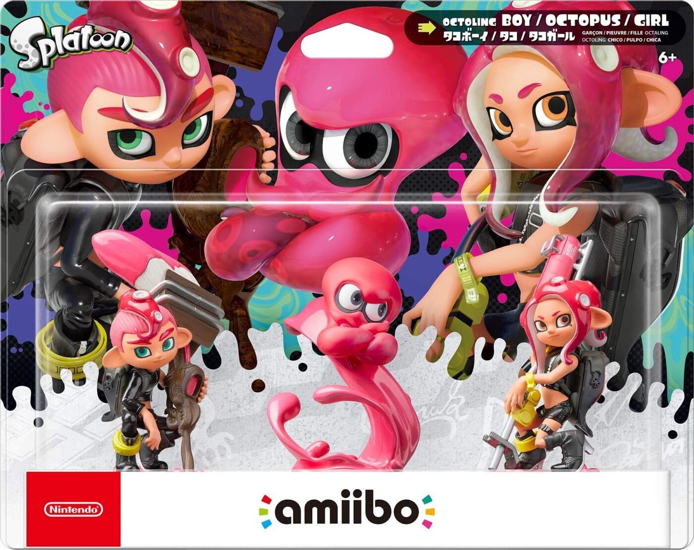 Image of   Nintendo Amiibo: Splatoon Octoling Figurer - 3-pak