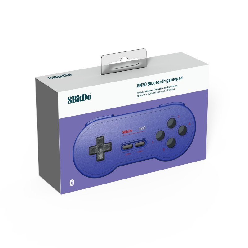 Image of   8bitdo - Sn30 - Bluetooth Gamepad Controller Til Switch, Pc Og Android - Blå
