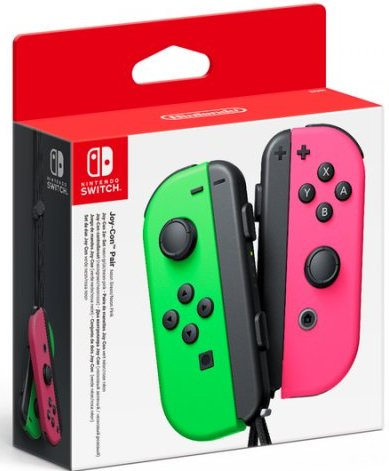 Image of   Nintendo Switch Joy-con Controller Pair - Højre Og Venstre - Neon Green / Neon Pink