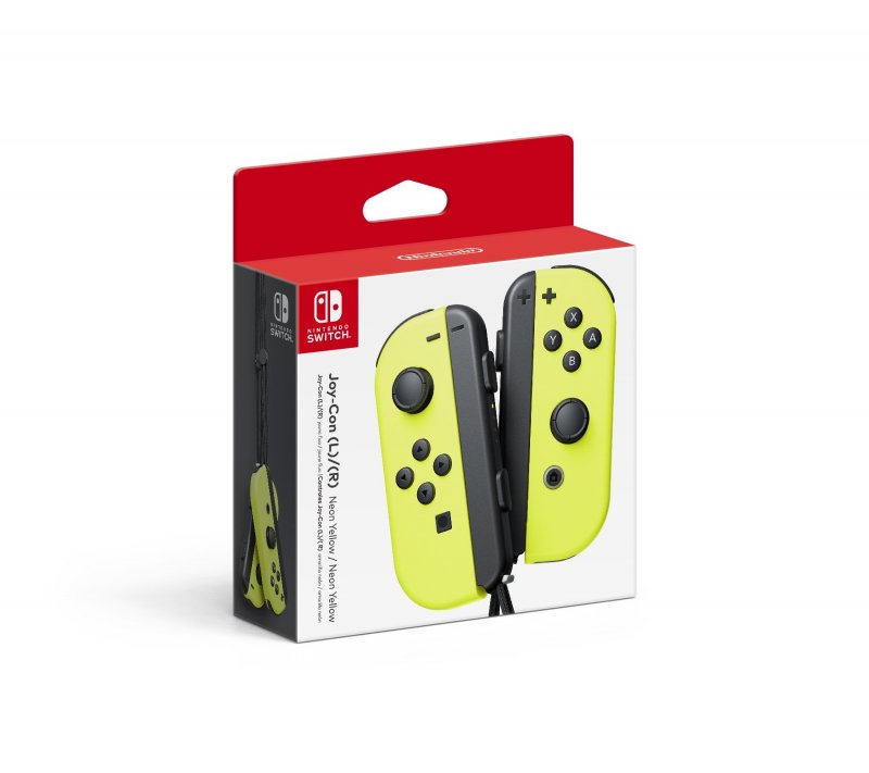 Image of   Nintendo Switch Joy-con Controller Pair - Højre Og Venstre - Neon Yellow