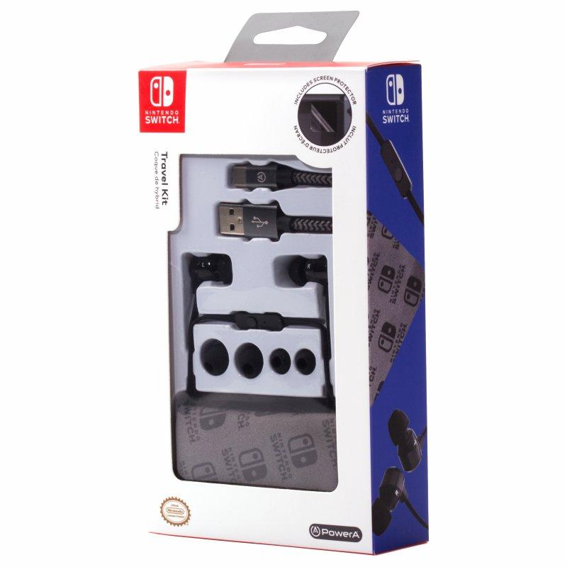 Image of   Nintendo Switch Travel Kit Med Bl.a. Høretelefoner, Kabel Og Skærmbeskytter