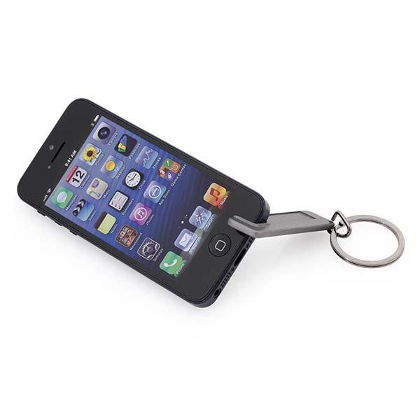 Image of   Nøglering Med Smartphone Holder Til Mobil - Grå