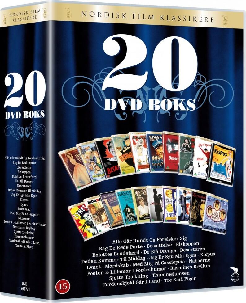 Billede af Nordisk Film Klassikere - 20 Dvd Boks Med Danske Film - DVD - Film