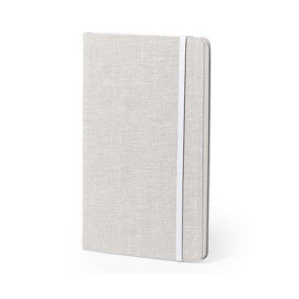 Image of   Notesblok I Polyester Med Bogmærke - Hvid