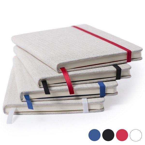 Image of   Notesblok I Polyester Med Bogmærke - Rød