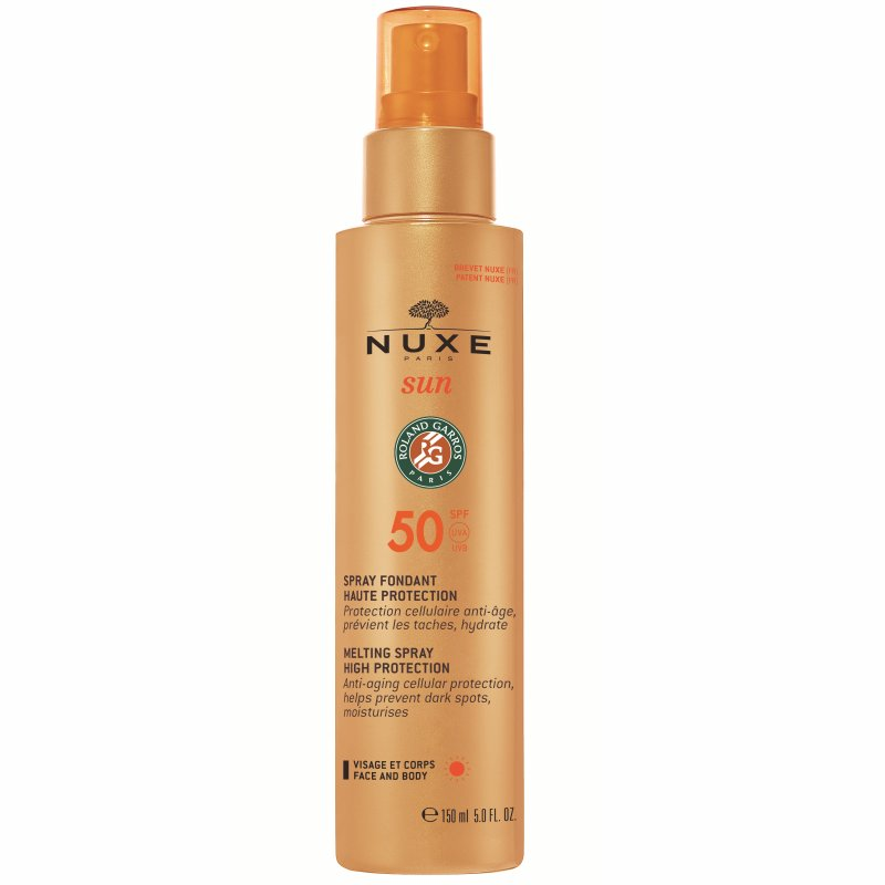 Image of   Nuxe Solcreme - Nuxe Sun Spray Fondante Haute Protection Spf 50 - 150 Ml.