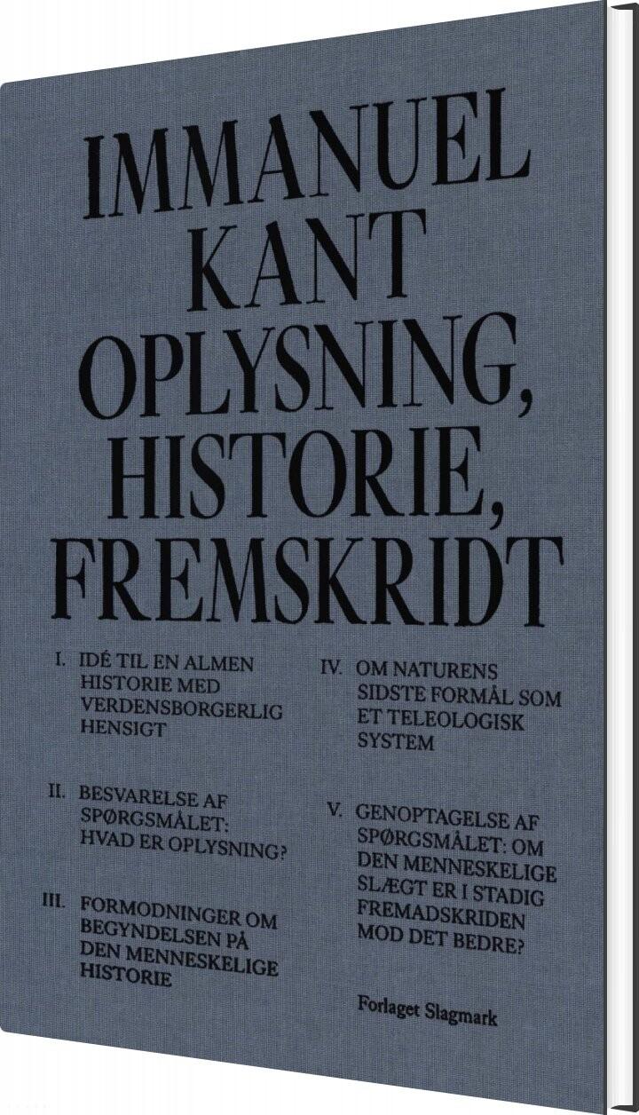 Image of   Oplysning, Historie, Fremskridt - Immanuel Kant - Bog