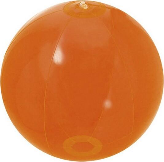 Billede af Oppustelig Badebold - Gennemsigtig - 28 Cm - Orange