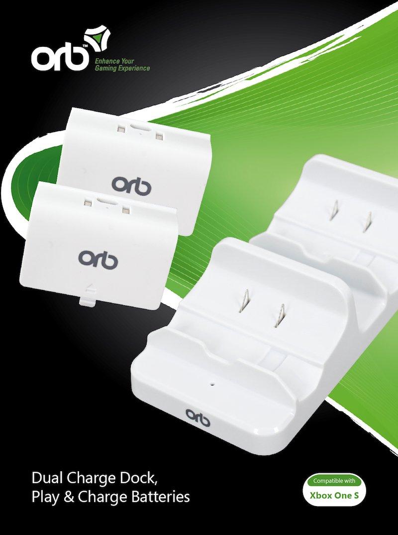 Image of   Orb Dual Charge Dock Ladestation Til Xbox One S - Inkl. 2 Batterier